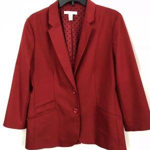 Chico's red blazer 2